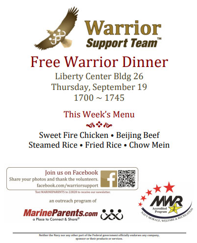 Warrior Support Team Dinner: September 19, 2019
