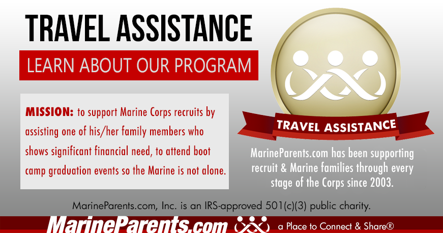 MarineParents.com Travel Assistance for Boot Camp Graduations