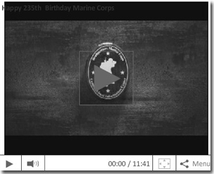 2010 Marine Corps Birthday Message Video