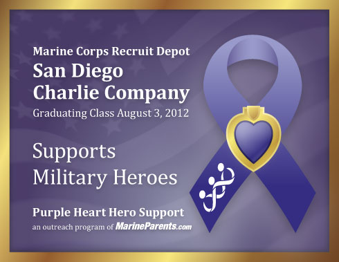 Virtual plaque for MCRD San Diego Charlie Company