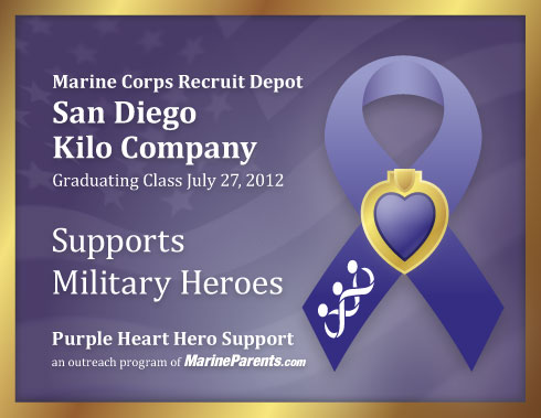 Virtual plaque for MCRD San Diego Kilo Company