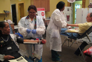Nurses taking care of donors