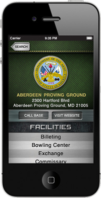 Military Bases iPhone App