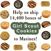 Girl Scout Cookie Shipping Campaign