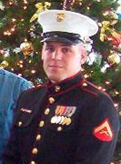 Marine Veteran Hoffman, Purple Heart Recipient