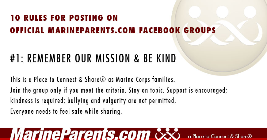MarineParents.com Posting Rule #1