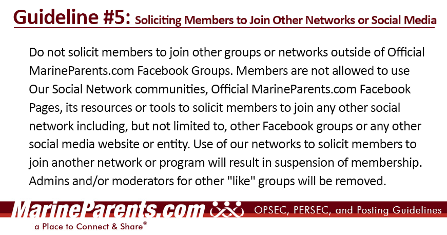 MarineParents.com Guideline 1