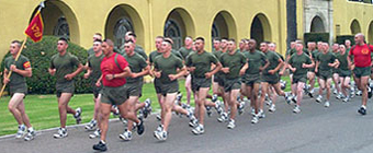 Marines March Raise Suicide Awareness by Marching in Silkies