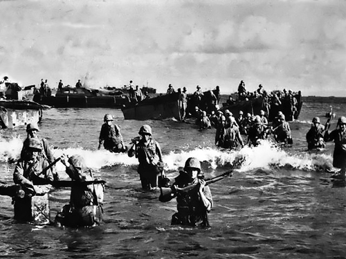 This Week in Marine Corps History: V Amphibious Corps Land on Tinian