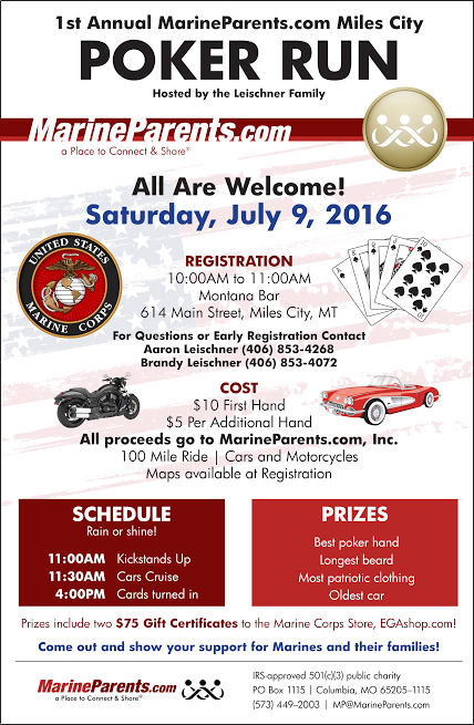 First Annual MarineParents.com Miles City Poker Run