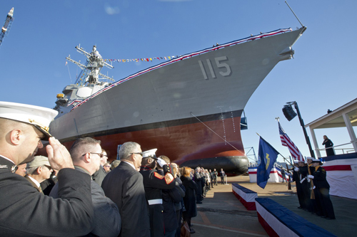 Marine Corps News: Destroyer Named for Silver Star Marine to be Commissioned Next Summer