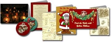 Unites States Marine Corps Christmas Cards and Ornaments