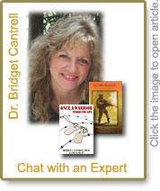 Dr. Bridget Cantrell & covers of her books