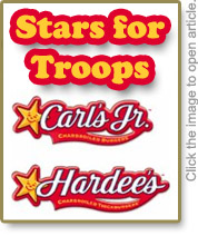 Hardees Stars For Troops Donates $10,000 to Marine Parents Outreach Programs