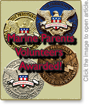 Marine Parents Volunteers Awarded