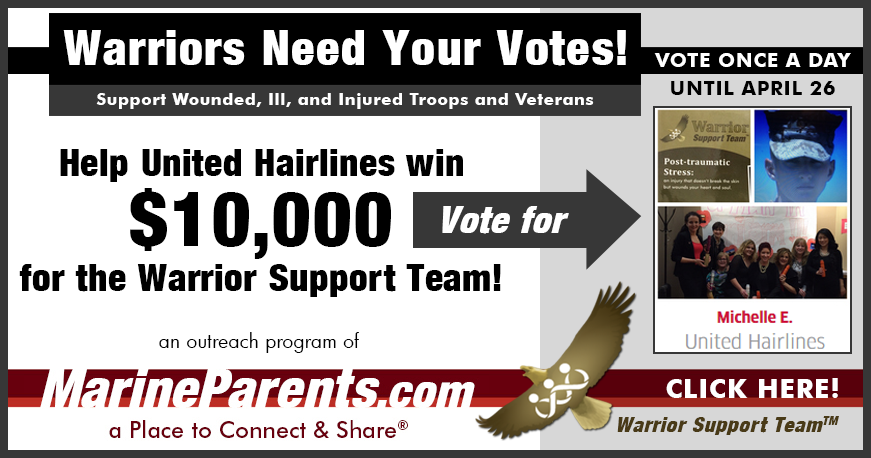 United Hairlines Wants to Win $10k for Warrior Support Team