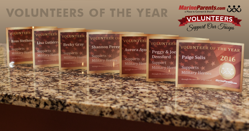 2016 MarineParents.com Volunteers of the Year