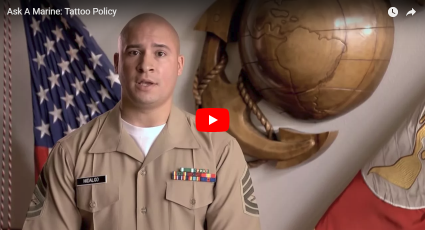 Ask A Marine Video Tattoo Policy